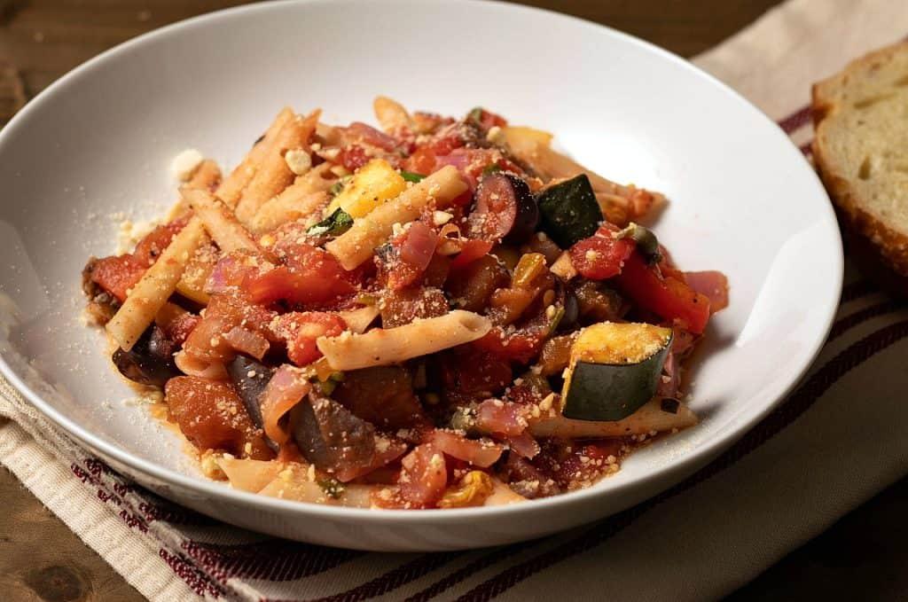 oil-free caponata pasta