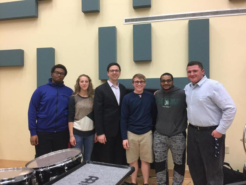 Wayne State Campus Band percussion coaching