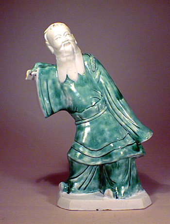 Green Glazed Figure, Kangxi period