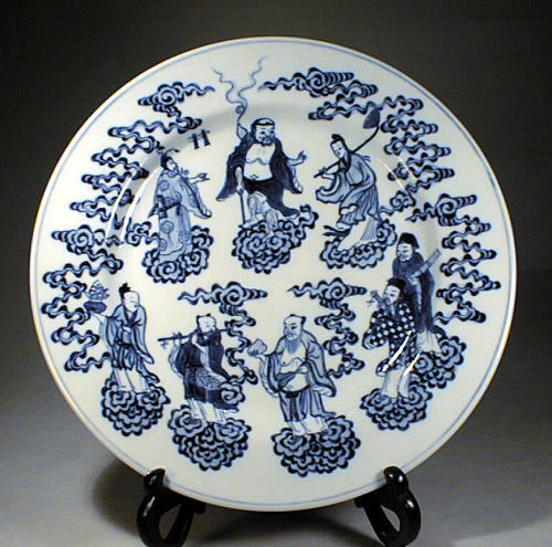 Blue & White Plate,Jiaqing Era,1796-1820