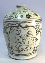 Painted Cizhou Wine Jar, Yuan Dynasty