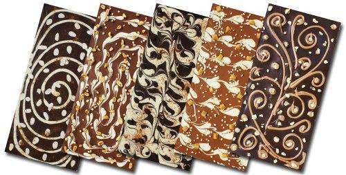 Узорный шоколад