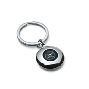 Stainless steel compass keyholder