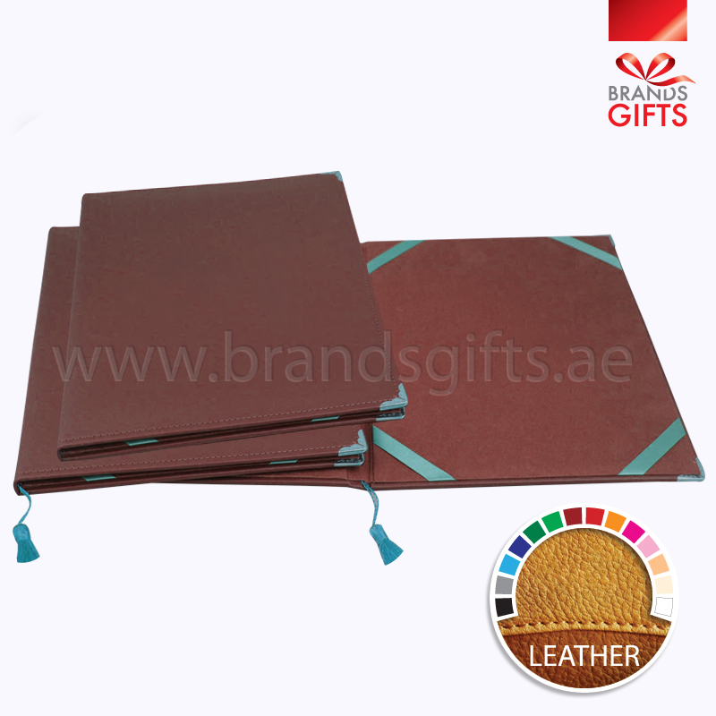 Stylish Brown Certificate Folder Custom Office Items Uae