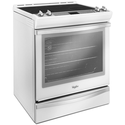 Whirlpool WEE760H0DH 30 White Ice Slide In Electric Range