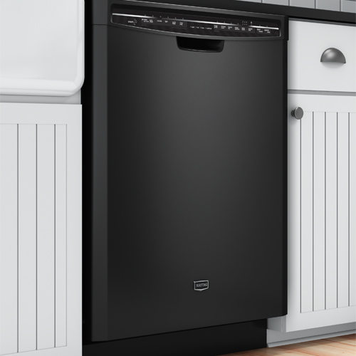Maytag MDB7749SBB Jetclean Plus Series 24 Black Built In