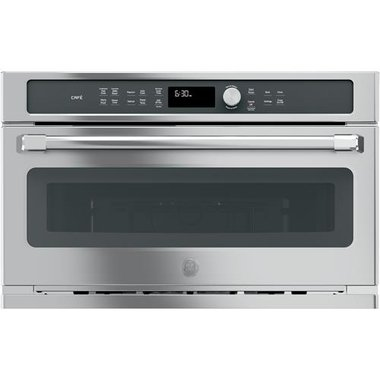 cafe series stainless steel 30 built in microwave convection oven