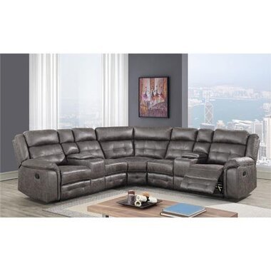 sullivan gray 3 piece reclining sectional
