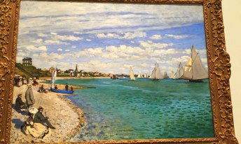 Painting by Claude Monet : Regatta at Saint - Andresse