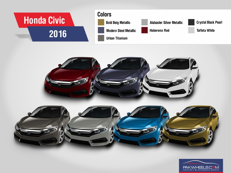 honda unveils the all new civic 2016 in 7 bold colors brandsynario. Black Bedroom Furniture Sets. Home Design Ideas