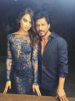 Shahrukh Khan and Shanina Shaik