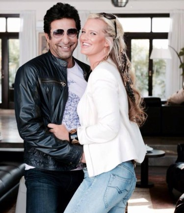 wasim akram and shaniera