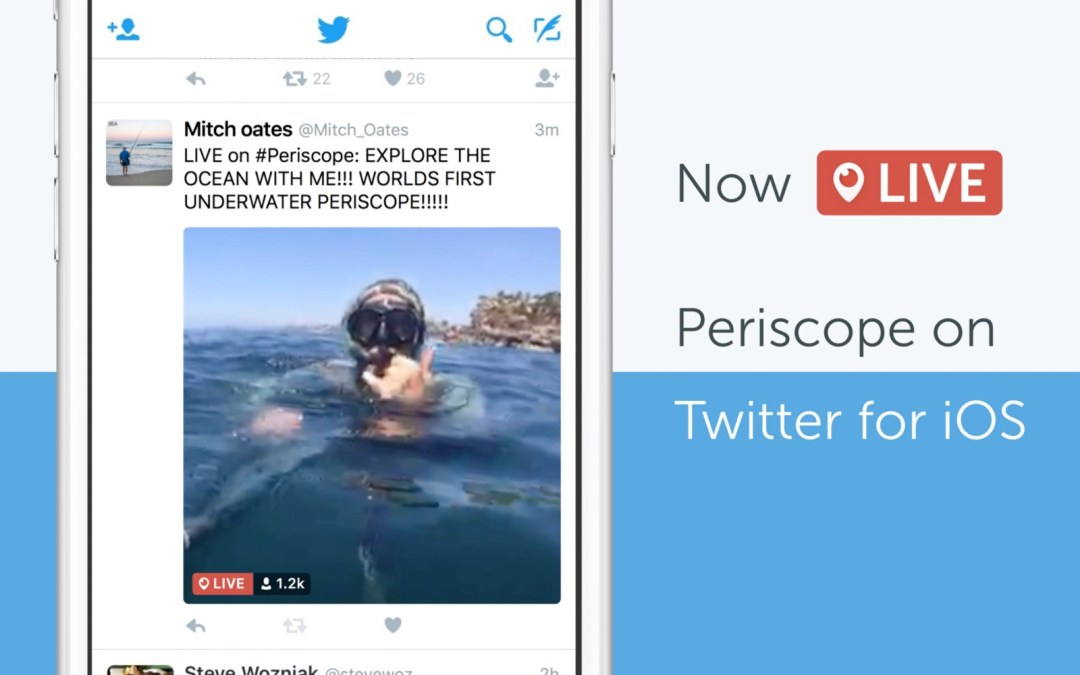 Now LIVE: Periscope on Twitter for iOS- Great news for Churches