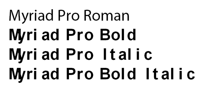 Choosing Fonts for Office - Roman only installed