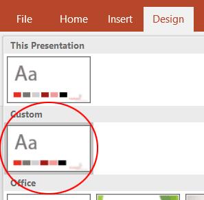 Design Tab Custom Row