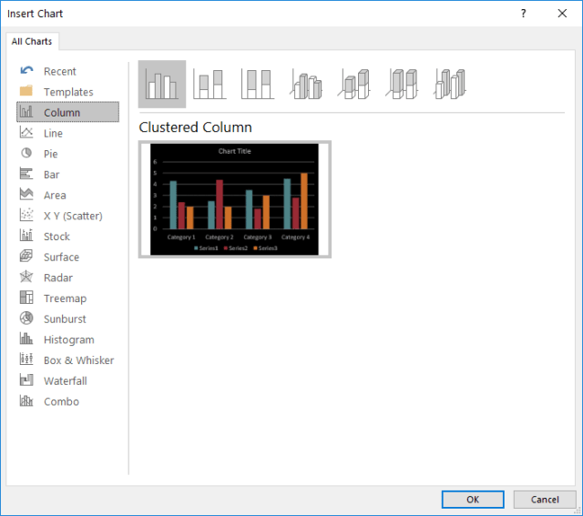 Chart Preview Problem