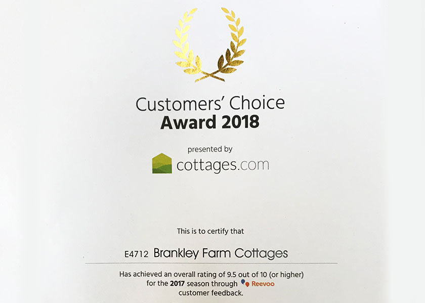 brankley-farm-cottages-customer-choice-award-2018