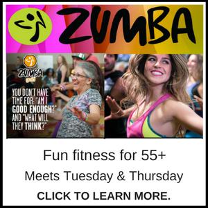 Zumba Exercise Class for seniors - Branson-Hollister Senior Center