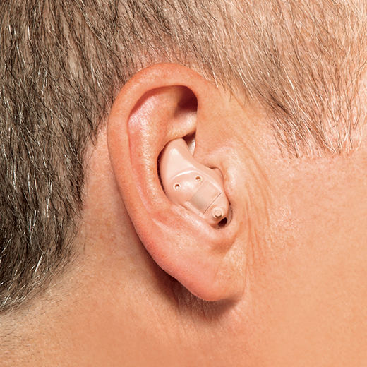 In the ear hearing aid in ear