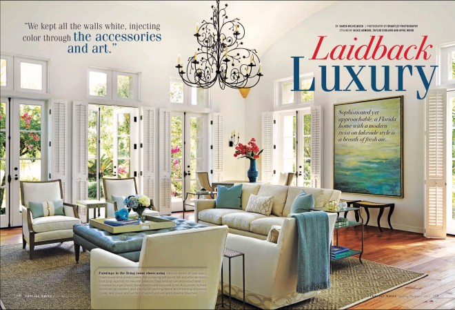 Cottage White Magazine feature by Brantley Photography