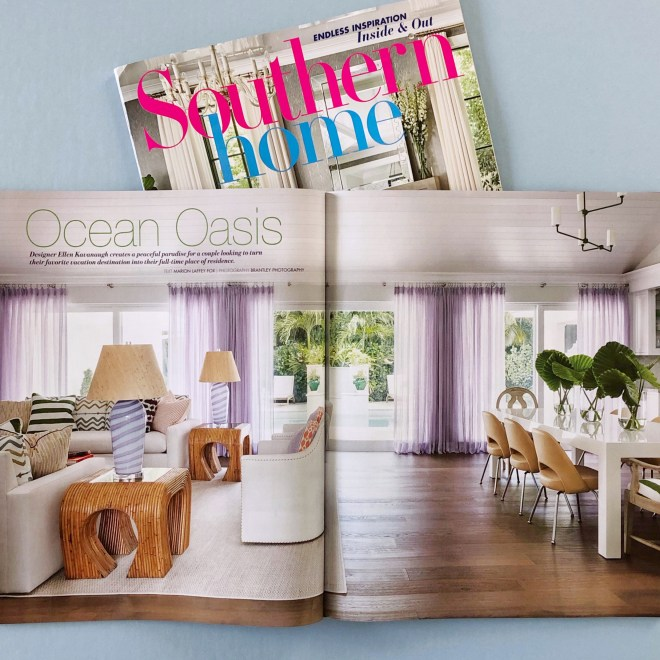 Southern Home Magazine Features Ellen Kavanaugh Interiors