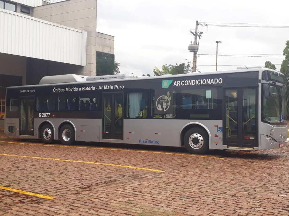 Ônibus elétrico da Byd do Brasil