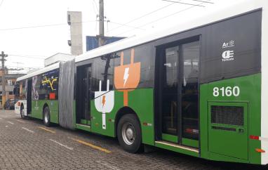 Ônibus elétrico da empresa Metra
