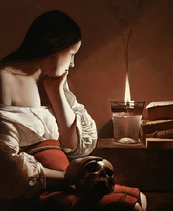 Magdalen with the Smoking Flame, by Georges de La Tour.