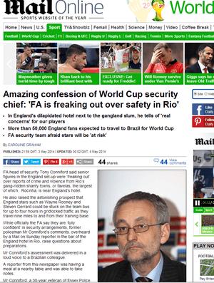 Información publicada por el Daily Mail.