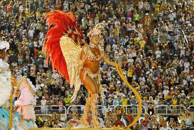 Desfile de Carnaval en Rio de Janeiro.
