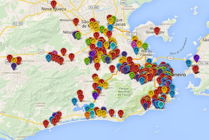 Aplicaciones muestran los puntos donde los ciudadanos son asaltados en Río de Janeiro.