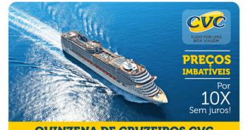 Cruzeiros marítimos promocionais na CVC