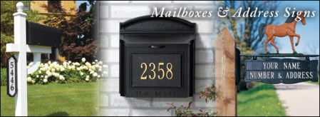 Mailboxes   Address Post Signs   Mailbox Decorations   Brass Gallery Mailboxes   Post Signs