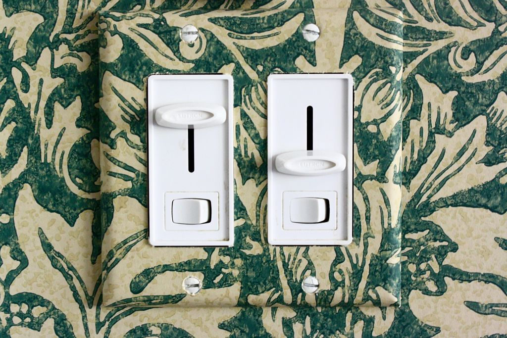 Wallpapered Switchplate