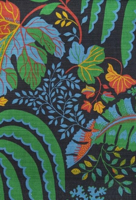 Rainforest in Black Linen