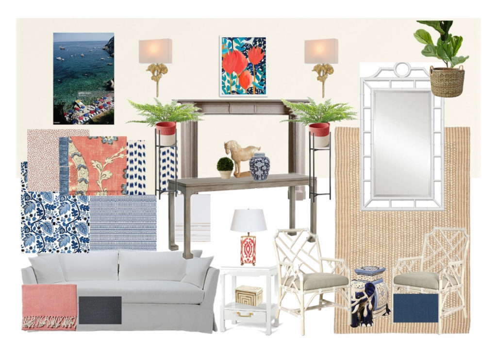 Brass Hill Design Colorful Kid-Friendly Chinoiserie Living Room