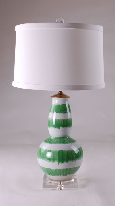 Avala Splashed Green Lamp