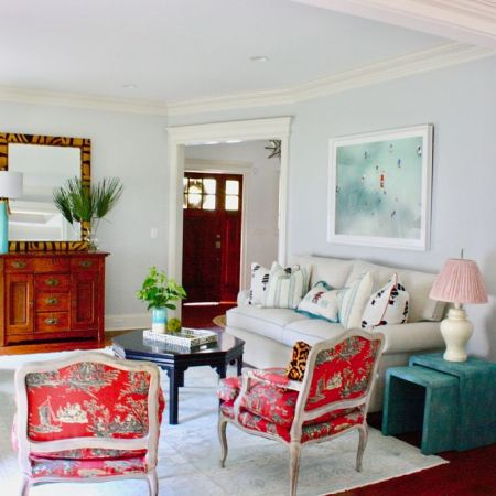 An Eclectic, Layered Living Room