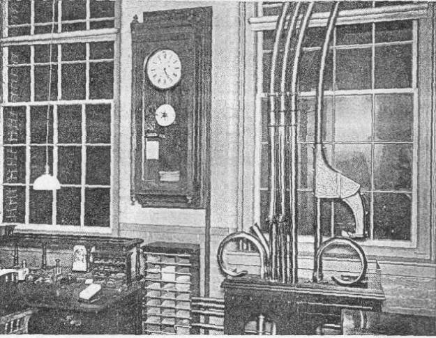 Lamson in a SUPERINTENDENT'S OFFICE IN FACTORY