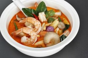 Tom Yam Gung Thai Herbal Soup Prawn Sour Spicy