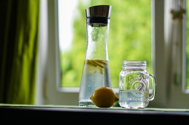 lemon water pitcher
