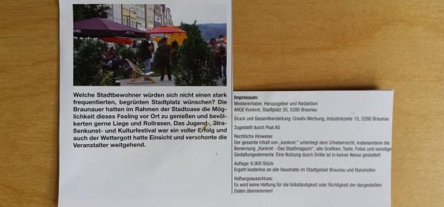 Braunau konkret, Oktober 2014
