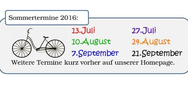 Einladung zu gemeinsamen Radtouren für Jede/n
