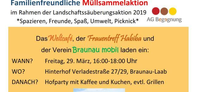 Landschaftssäuberungsaktion in Braunau-Laab mit Ausklang