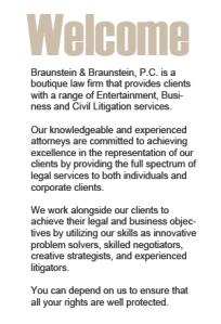 Welcome to Braunstein & Braunstein