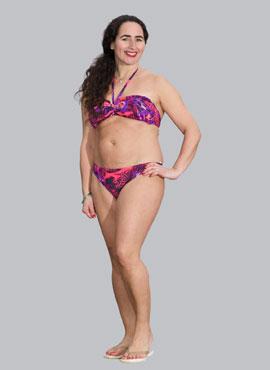 Pink Lipstick Bandeau Bikini Top
