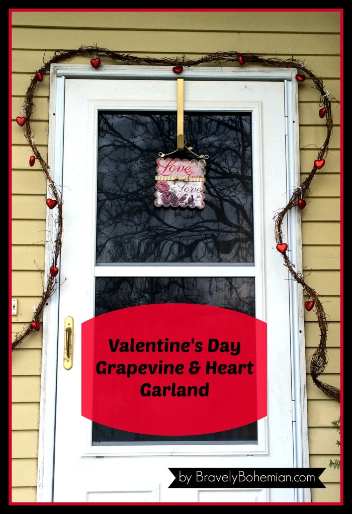 DIY grapevine and heart garland for Valentine's Day