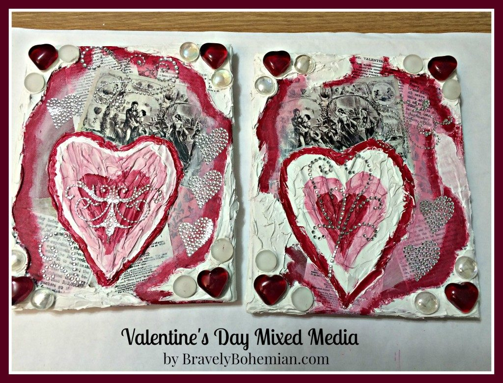 Valentine's Day mixed media_completed projects