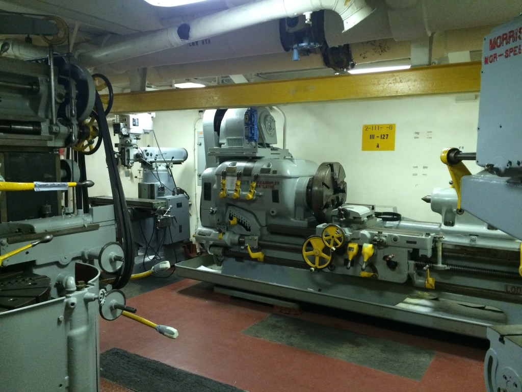USS Wisconsin_Machine_shop