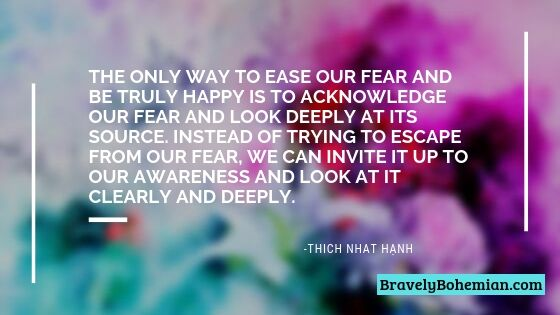 Quote by Thich Nhat Hanh_The Only Way to Ease Our Fear
